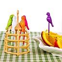 hesapli Sofra Takımı-Plastik Sıradan Sevimli Sebze çatalı Kek Çatalı Çatallar, Yüksek kalite 1pc