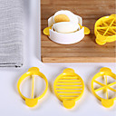 billige Frugt- og grøntsagsredskaber-1pc Køkken Tools Plastik Hjemme Køkkenværktøj / Multifunktion / GDS Skæreredskab til æg / For Køkkenredskaber / Til Slik