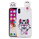 رخيصةأون أغطية أيفون-غطاء من أجل Apple iPhone X / iPhone 8 Plus / iPhone 8 نموذج غطاء خلفي قطة ناعم TPU