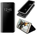 abordables Accessoires PS4-Coque Pour Huawei P10 Plus / P10 Lite Avec Support / Miroir / Clapet Coque Intégrale Couleur Pleine Dur faux cuir pour P10 Plus / P10 Lite / P10
