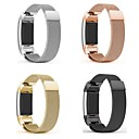 Недорогие Ремешки для спортивных часов-Ремешок для часов для Fitbit Charge 2 Fitbit Миланский ремешок Металл / Нержавеющая сталь Повязка на запястье