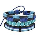 voordelige Armbanden-Dames Hol Wikkelarmbanden / Wide Bangle - Imitatie toermalijn Vintage, Standaard Armbanden Blauw Voor Afspraakje / Straat
