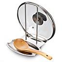 hesapli Şapkalar, Kepler ve Bandanalar-Mutfak aletleri Paslanmaz Çelik Basit Kaşık Rostonları ve Tencere Klipsleri Pişirme Kaplar İçin 1pc