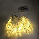 hesapli DVI-1.5m Dizili Işıklar 10 LED'ler Dip Led Sıcak Beyaz / RGB Dekorotif AA Bataryalar Powered 1pc