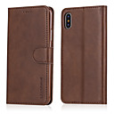 cheap iPhone Cases-Case For Apple iPhone X iPhone 8 Card Holder Wallet Shockproof with Stand Flip Full Body Cases Solid Colored Hard PU Leather for iPhone X
