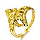 hesapli Bilezikler-Geometrik Band Yüzük - Altın Kaplama Moda 7 / 8 / 9 Altın Uyumluluk Parti Hediye