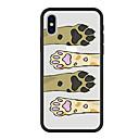 hesapli iPhone Kılıfları-Pouzdro Uyumluluk Apple iPhone X / iPhone 8 Plus Temalı Arka Kapak Kedi / Köpek / Karton Sert Arkilik için iPhone X / iPhone 8 Plus / iPhone 8