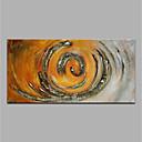ieftine Benzi Lumină LED-Hang-pictate pictură în ulei Pictat manual - Abstract Modern Fără a cadru interior / Canvas laminat