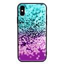 저렴한 아이폰 케이스-케이스 제품 Apple iPhone X iPhone 8 Plus 패턴 뒷면 커버 컬러 그라데이션 하드 강화 유리 용 iPhone X iPhone 8 Plus iPhone 8 iPhone 7 Plus iPhone 7 iPhone 6s Plus
