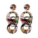 preiswerte Ohrringe-Tropfen-Ohrringe - Tropfen, Donuts Europäisch, Modisch, überdimensional Weiß / Kaffee / Regenbogen Für Strasse Klub