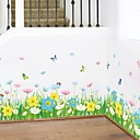 cheap Bathroom Gadgets-Decorative Wall Stickers - Plane Wall Stickers Floral / Botanical Living Room Bedroom Bathroom Kitchen Dining Room Study Room / Office
