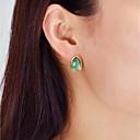 ieftine Brățări-Cercei Stud Solitaire Picătură femei Modă cercei Bijuterii Alb / Maro / Verde Pentru Zilnic Dată