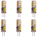 hesapli LED Aksesuarlar-WeiXuan 6pcs 2W 160lm G4 LED Bi-pin Işıklar T 24 LED Boncuklar SMD 2835 Sıcak Beyaz Serin Beyaz 12V