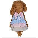 hesapli Köpek Giyim ve Aksesuarları-Köpekler Kediler Elbiseler Köpek Giyimi Kırk Yama Fiyonk Düğüm Gri Pembe Pamuk Kumaş Kostüm Evcil hayvanlar için Bayan Elbiseler&Etekler