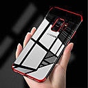 Недорогие Чехлы и пеналы-Кейс для Назначение SSamsung Galaxy S9 S9 Plus Покрытие Ультратонкий Прозрачный Body Кейс на заднюю панель Однотонный Мягкий ТПУ для S9