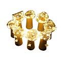 hesapli LED Şerit Işıklar-2m Dizili Işıklar 160 LED'ler Sıcak Beyaz Dekorotif 3 V / Piller Powered 8pcs