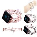 baratos Novos Artigos Personalizados-Pulseiras de Relógio para Fitbit Versa Fitbit Modelo da Bijuteria Cerâmica Tira de Pulso