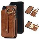 levne iPhone pouzdra-pouzdro pro iPhone xr xs xs max peněženka / držák na karty / s podstavcem pevné barvy z pravé kůže pro iPhone x 8 8 plus 7 7plus 6s 6s plus se 5 5s