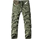 ieftine Becuri LED Glob-Bărbați De Bază / Șic Stradă Mărime Plus Size Zilnic Larg Pantaloni Chinos / Pantaloni de marfă Pantaloni - Mată Bumbac Gri Închis Bej Verde Militar 28 36 38
