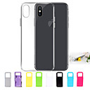 Funda Para Apple iPhone X / iPhone 8 / Funda iPhone 5 Ultrafina / Transparente Funda Trasera Un Color Suave TPU para iPhone X / iPhone 8