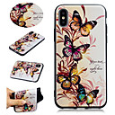 cheap iPhone Cases-Case For Apple iPhone X / iPhone 8 Plus Pattern Back Cover Butterfly / Flower Soft TPU for iPhone X / iPhone 8 Plus / iPhone 8