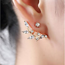 Χαμηλού Κόστους Μακιγιάζ και περιποίηση νυχιών-Γυναικεία Cubic Zirconia Κουμπωτά Σκουλαρίκια - Άνθινο / Βοτανικό Leaf Shape Λουλούδι κυρίες Γλυκός Κοσμήματα Χρυσό / Ασημί Για Καθημερινά Δρόμος