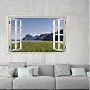 hesapli Çıkartmalar ve Desenler-Dekoratif Duvar Çıkartmaları / Buzdolabı Çıkartmaları - 3D Duvar Çıkartması Manzara / 3D Oturma Odası / İç Mekan