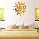 رخيصةأون ملصقات ديكور-شمس الإبداعية sunshine النار عباد الشمس الجدار ملصق 3d مرآة تأثير الفن جدارية diy إزالة ملصقات صائق muraux ديكور المنزل