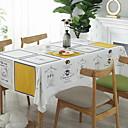 رخيصةأون بدائل-معاصر قطن مربع قماش الطاولة هندسي الجدول ديكورات 1 pcs