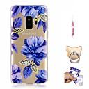 billige Etuier / covers til Galaxy S-modellerne-Etui Til Samsung Galaxy S9 Plus / S9 Mønster Bagcover Blomst Blødt TPU for S9 / S9 Plus