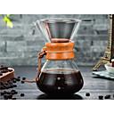 billige Utstyr til kaffe-Glass Varmebestandig / Kreativ Taper Shape 1pc Filre / Kaffefilter / Kaffekjele