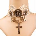 ieftine Moda Lolita-Rozen Kristall Cranii Cool Gothic Lolita În Cruce Gotic Coliere Choker Pentru Petrecere Bal Pentru femei Fete Costum de bijuterii / Steampunk / de ceas