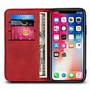 رخيصةأون أغطية أيفون-غطاء من أجل Apple iPhone X / iPhone 8 Plus / iPhone 8 محفظة / حامل البطاقات / قلب غطاء كامل للجسم لون سادة قاسي جلد PU