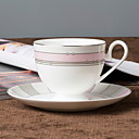 hesapli Kupalar-drinkware Porselen Kahve Kupaları Isı Yalıtımlı 1pcs