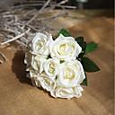 رخيصةأون أزهار اصطناعية-زهور اصطناعية 9 فرع حفلة الزفاف الورود الزهور الخالدة أزهار الطاولة