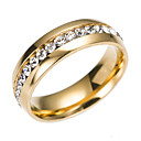 cheap Rings-Cubic Zirconia Band Ring Eternity Ring - Stainless Classic, Fashion 6 / 7 / 8 / 9 Gold / Silver For Engagement Gift Daily