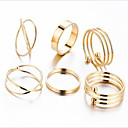 cheap Hair Jewelry-Women's Band Ring Ring Set - Alloy Elephant Vintage 7 / 8 Gold For Party Holiday / 6pcs