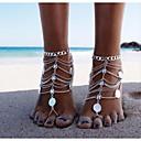 hesapli Küpeler-Madeni para Barefoot Sandalet - Klasik, Vintage Gümüş Uyumluluk Bikini Kadın's