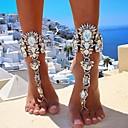 hesapli Makijaż na Halloween-Kalın Zincir Barefoot Sandalet - Simüle Elmas Avrupa, Bikini Altın / Gümüş Uyumluluk Günlük Bikini Kadın's
