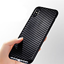 cheap iPhone Cases-Case For Apple iPhone X / iPhone 8 Ultra-thin / Embossed Back Cover Lines / Waves Soft Carbon Fiber for iPhone X / iPhone 8 Plus / iPhone 8