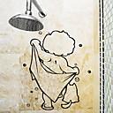 olcso Fürdőszobai kütyük-Matricák & Ragasztószalagok Egyszerű / Vízálló / Öntapadós Szokásos / Rajzfilmfigura / Modern PVC 1db Fürdőszobai dekoráció