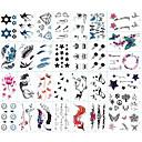 رخيصةأون وشم مؤقت-30 pcs ملصقات الوشم الوشم المؤقت سلسلة الطوطم / سلسلة الحيوانات / سلسلة الزهور الفنون الجسم ذراع