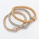 preiswerte Ohrringe-Damen Ketten- & Glieder-Armbänder - Modisch Armbänder Gold Für Zeremonie / Schultaschen / 3 Stück