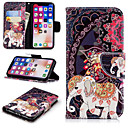 cheap iPhone Cases-Case For Apple iPhone X / iPhone 8 Plus Wallet / Card Holder / with Stand Full Body Cases Elephant / Flower Hard PU Leather for iPhone X / iPhone 8 Plus / iPhone 8