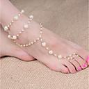 hesapli Telsizler-İnci Barefoot Sandalet - İmitasyon İnci Top Klasik, Moda Altın Uyumluluk Günlük Kadın's
