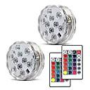 hesapli LED Güneş Enerjili Işıklar-2pcs 5 W Sualtı Işıkları Yeni Dizayn / Uzaktan kumandalı / Kısılabilir RGB 4.5 V Vazolar ve Akvaryumlar için uygun