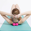hesapli Kolyeler-Çift Masajlı Top Silindiri İle 1 pcs TPE Masaj İçin Yoga / Fitness / Jimnastik