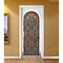 Χαμηλού Κόστους Διακοσμητικά αυτοκόλλητα-Αυτοκόλλητα πόρτας - 3D Αυτοκόλλητα Τοίχου Αφηρημένο / Τοπίο Σαλόνι / Υπνοδωμάτιο