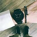 abordables Bracelets-Homme Montre Habillée / Montre Bracelet Chinois Design nouveau / Cool Cuir Bande Rétro / Décontracté Noir / Blanc