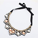 cheap Necklaces-Women's Collar Necklace Lasso Ladies Fashion Rhinestone Silk Gold 42 cm Necklace Jewelry 1pc For Daily